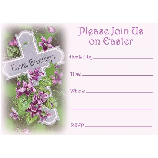 Free easter invitation templates to download and print hub pages stopboris Image collections