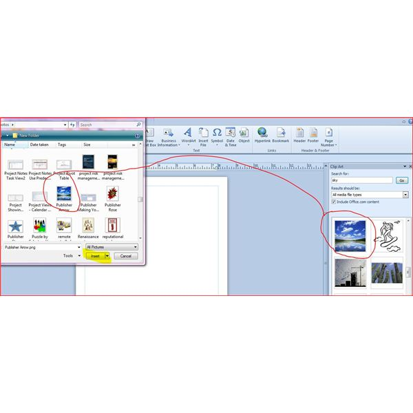 Publisher save Clipart as Photo and Insert