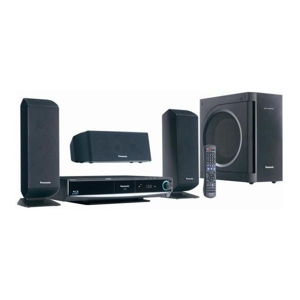 Blu Ray Home Theater with Wireless Rear Speakers Panasonic SCBT