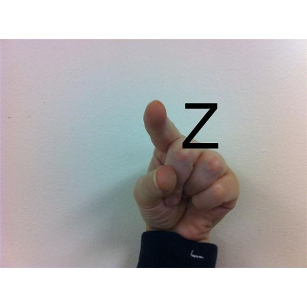 American Sign Language: Fingerspelling Z