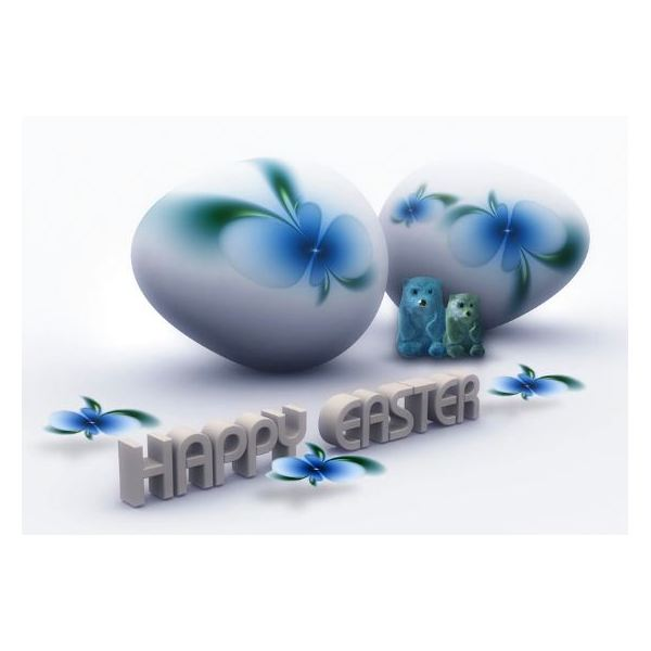 3D Happy Easter Wallpaper
