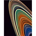 Voyager 2 false color photo image — Saturn's rings