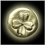 lucky shamrock medallion