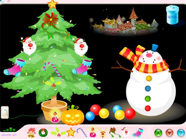 christmas tree decoration game - Christmas Decoration Games