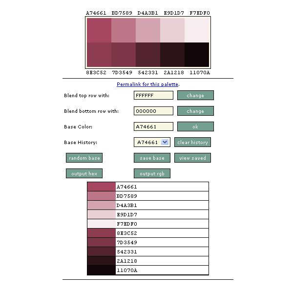 Slayer Office Color Palette Generator Tool