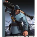 The TF2 Soldier and His New Direct Hit.