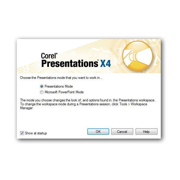 Presentations Workspace Manager Window
