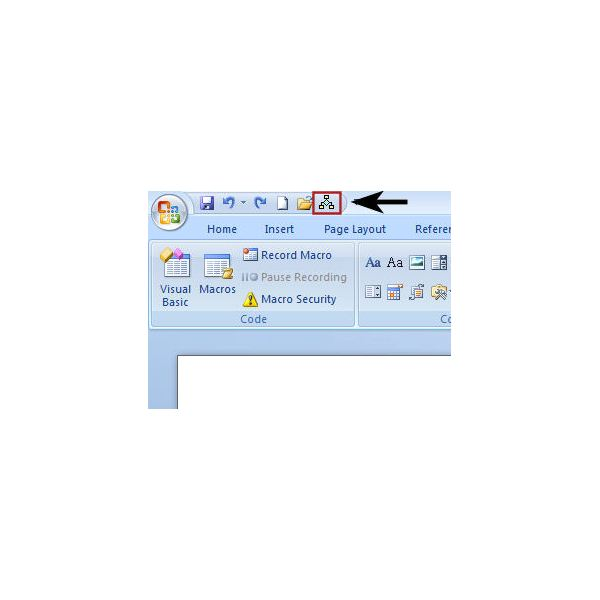 Placement of Shortcut on Quick Access Toolbar