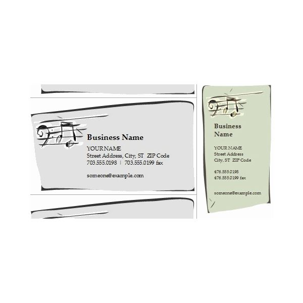 Band business card templates for all musicians musical symbols these two cards flashek