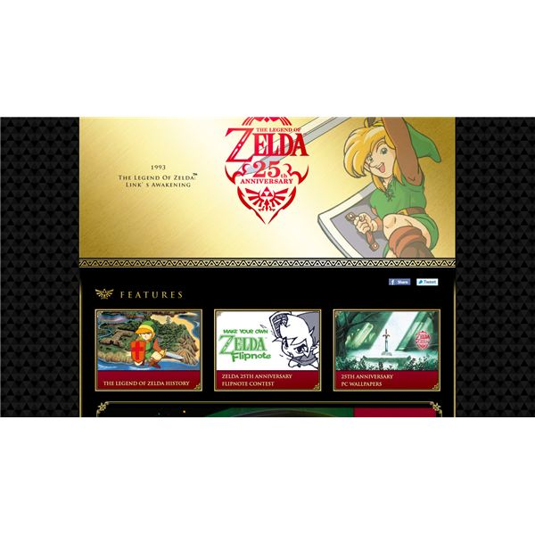 Legend of Zelda 25th anniversary website