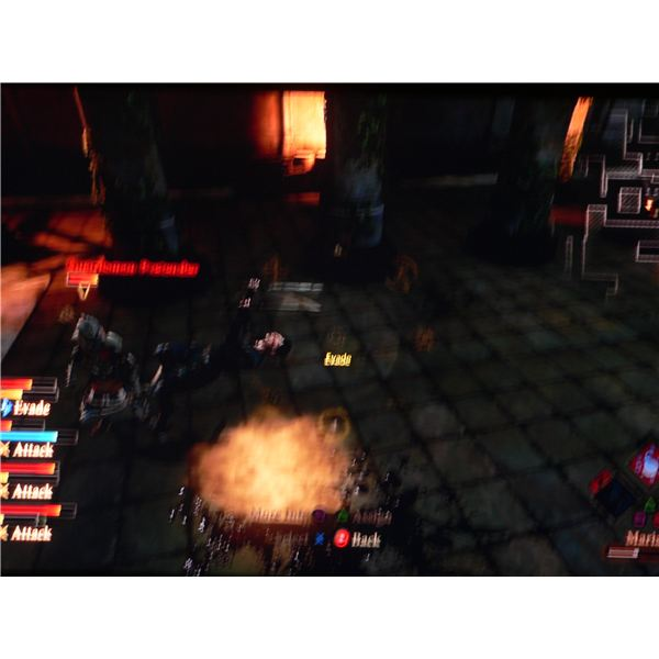 Hawke uses the Evade ability in Dragon Age 2.