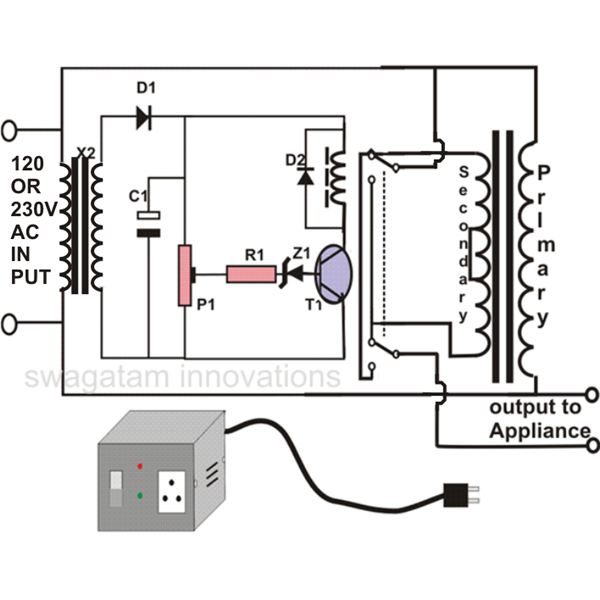 how to make an automatic voltage stabilizer? circuit, construction rectifier circuit diagram automatic voltage stabilizer circuit diagram, image
