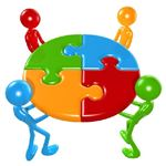 Working Together Teamwork Puzzle Concept by Lumaxart Wikimedia Commons