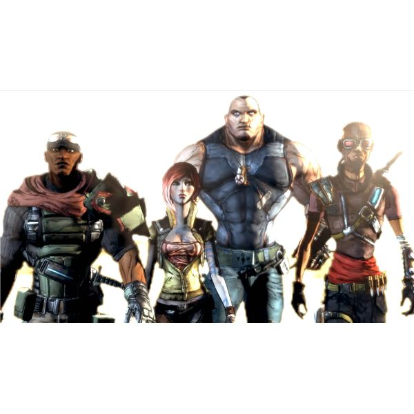 Four character classes from Borderlands