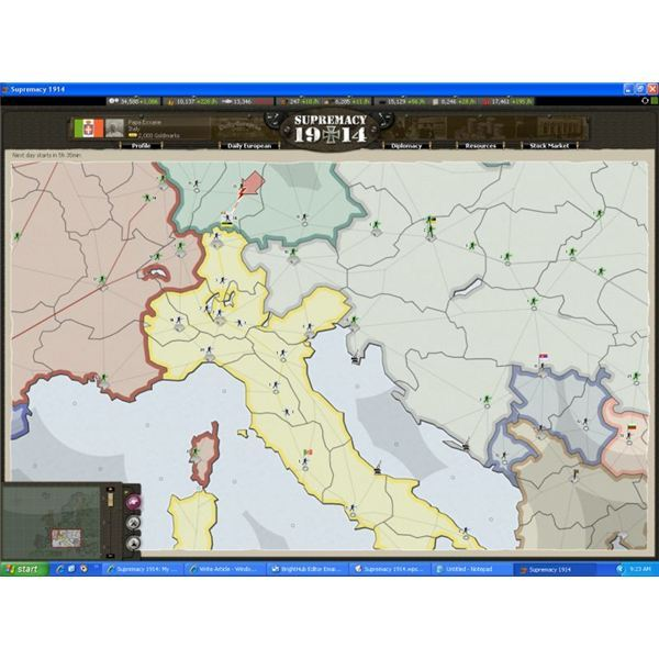 Game Reviews: Supremacy 1914 Browser Game - Fight World War