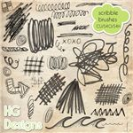 Doodle Scribble Brushes by HG Designs