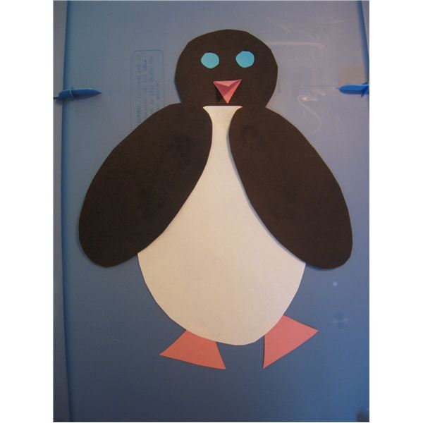 Penguin Art Activity to Learn Shapes: 1st Grade Craft
