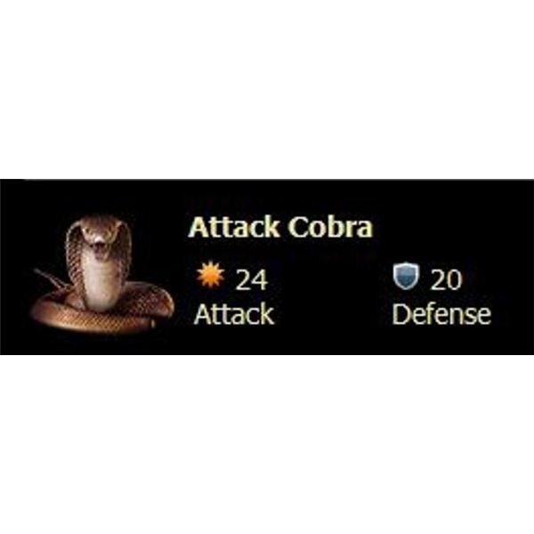 Screenshot of a Mafia Wars Loot Drop Item: Attack Cobra