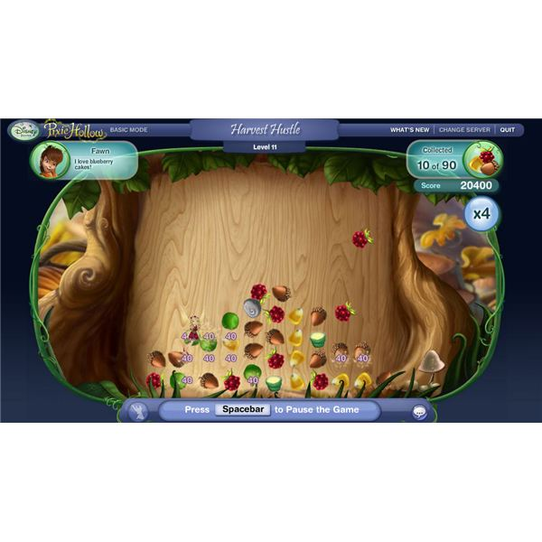 Pixie Hollow Harvest Hustle Game