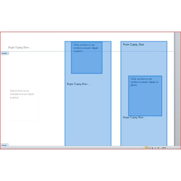 Textboxes placed on Word Doc