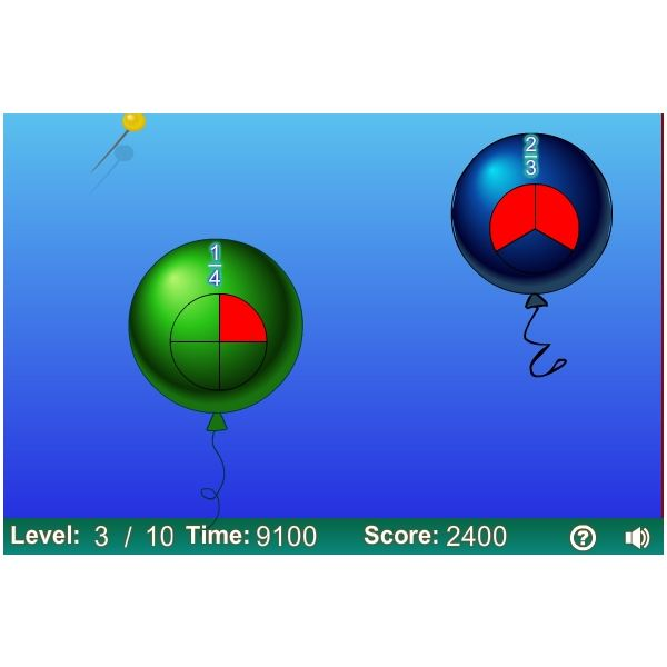 Fraction Balloon Pop - Math Games