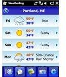 WeatherBug screenshot forecasts