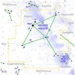 Aquila constellation map