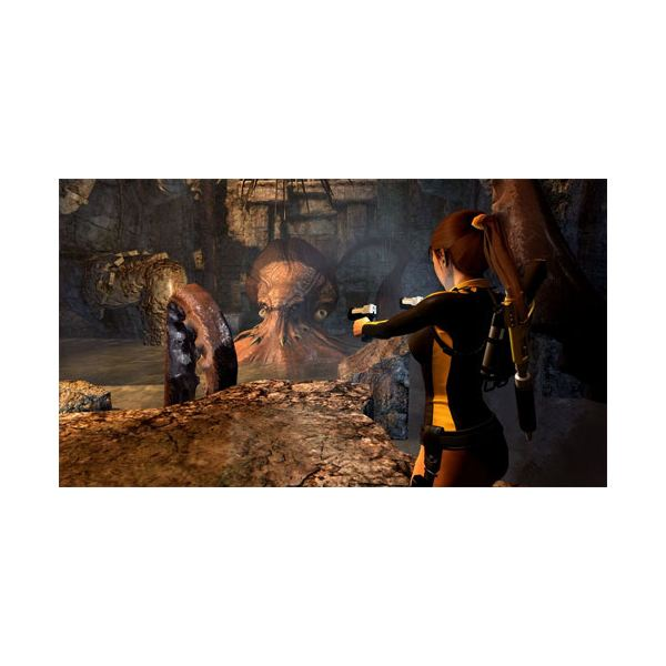 In this part of the adventure Shiva's hands light the way for Lara