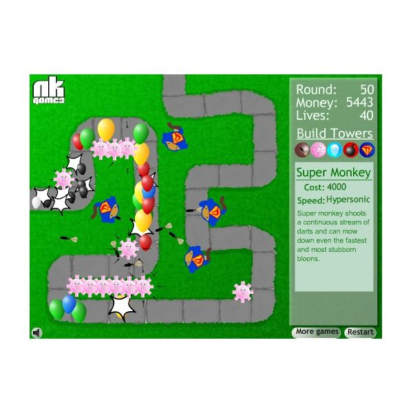 Overview of the Bloons Tower Defense Games: 1, 2, and 3