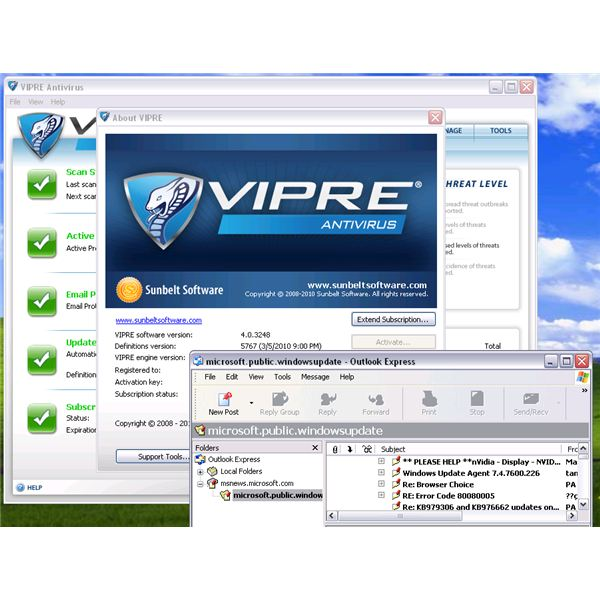 Newsgroup using OE and VIPRE