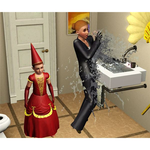 The Sims 3 prank sink