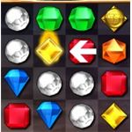 When you clear a string of gems, one of them is actually left in place as a power gem. Using it again produces a special effect depending on play conditions.