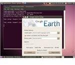 The Google Earth installer running on Ubuntu 10.04