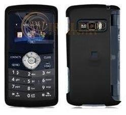 LG EnV3 VX9200 Black Rubber Feel Hard Case Cover w:Belt Clip