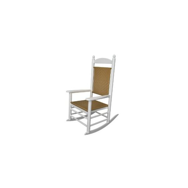 Polywood Outdoor Furniture Kennedy Rocker with Tiger Weave