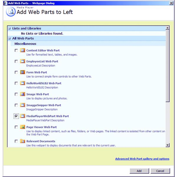 Add Web Parts from SilverLight