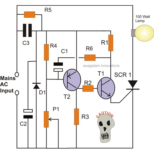 how to make simple scr circuitssimple scr ac mains lamp flasher circuit diagram, image