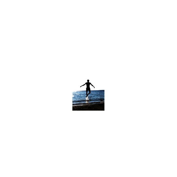 Man Jumping on Sea