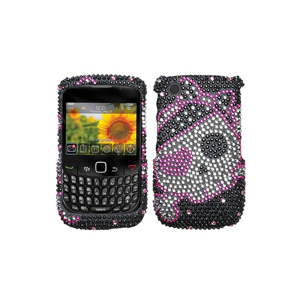 CRYSTAL BLING Hard Cover Snap-On Protector Case for Blackberry Curve 8520 8530