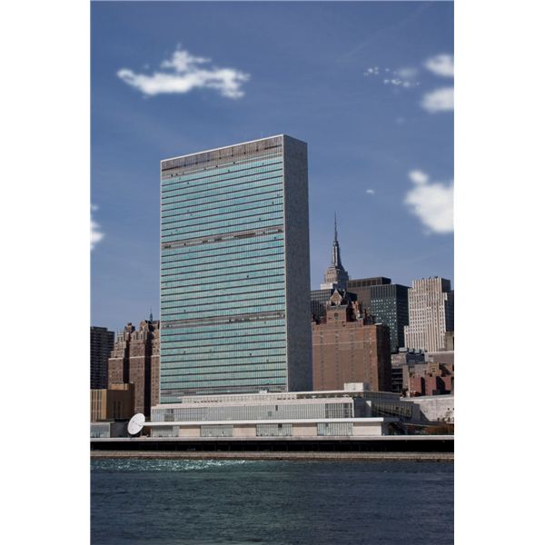 United Nations Building - A Few Scattered Clouds
