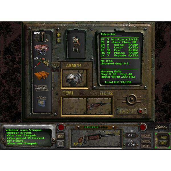 Fallout 2 Inventory