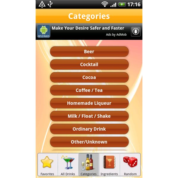 8500 Drink Recipes Categories