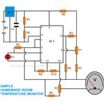 Room Temperature Monitor, Circuit Diagram, Image