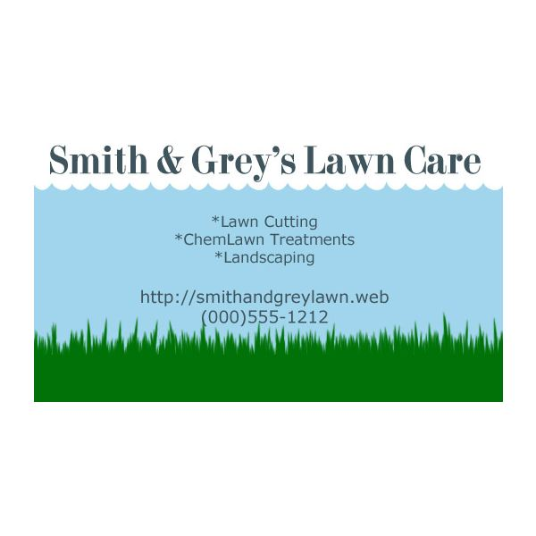 Grass and Clouds Business Card