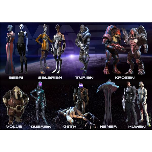 Races in Mass Effect