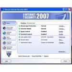 The main console of the F-secure Internet Security Suite 2007