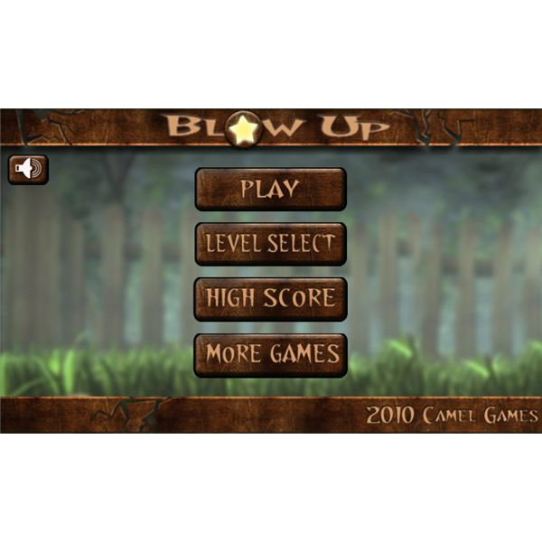 Blow Up For Android Menu Screen