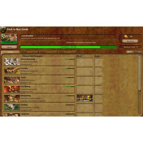 Stronghold Kingdoms Technology Guide