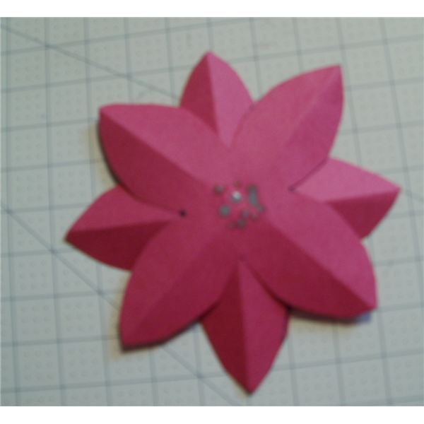 a completed poinsettia
