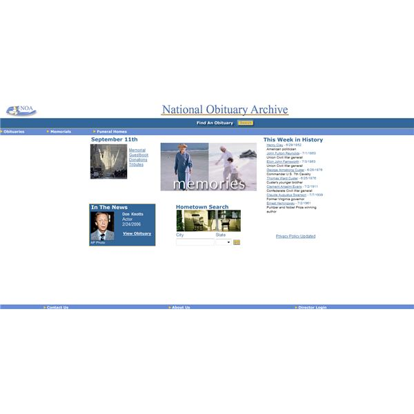 National Obituary Archive